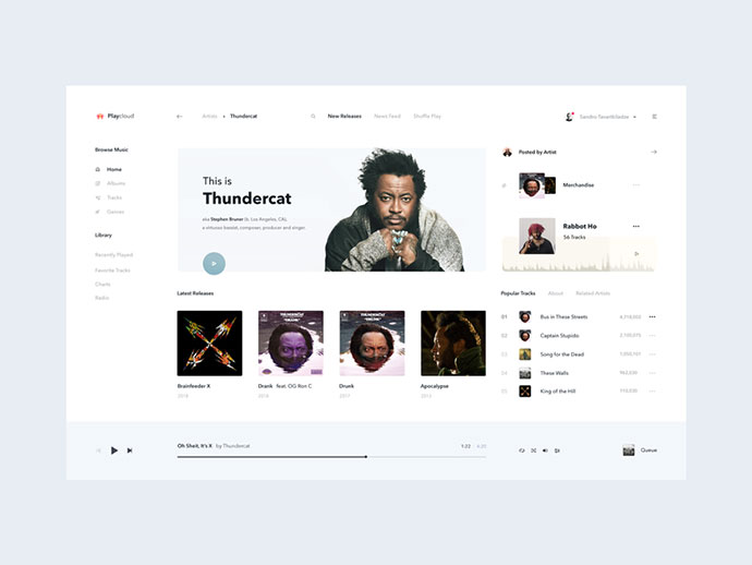 Playcloud Online Music Streaming