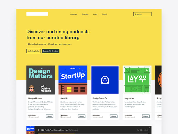 Podcast Library Side Project Preview