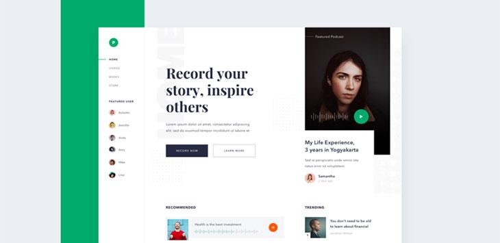 50 Podcast Web & Mobile App UI Design Examples