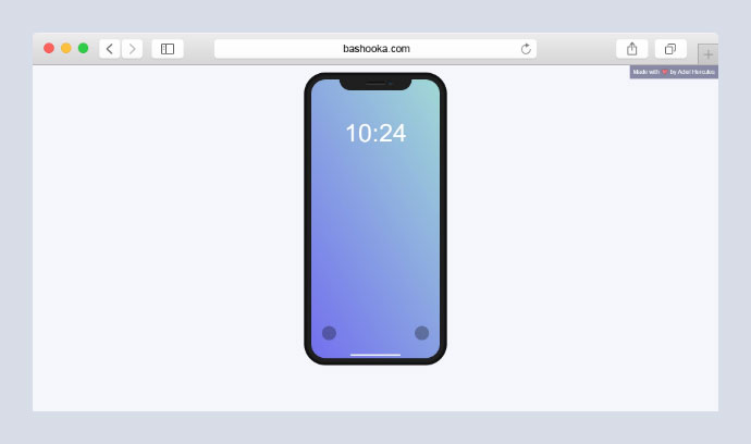 Pure CSS iPhone X Mockup