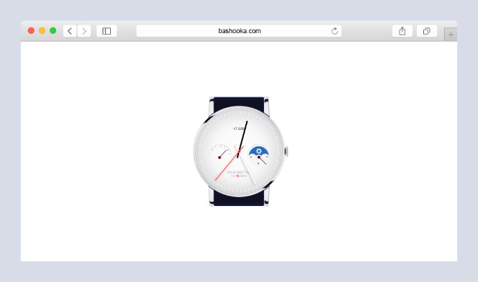 Pure CSS watch animation