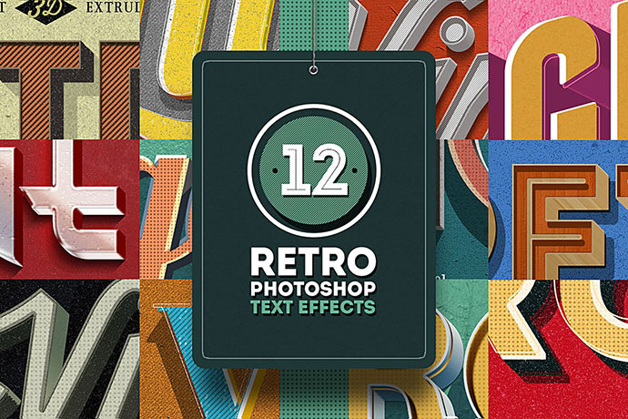 Retro Photoshop Text Effects