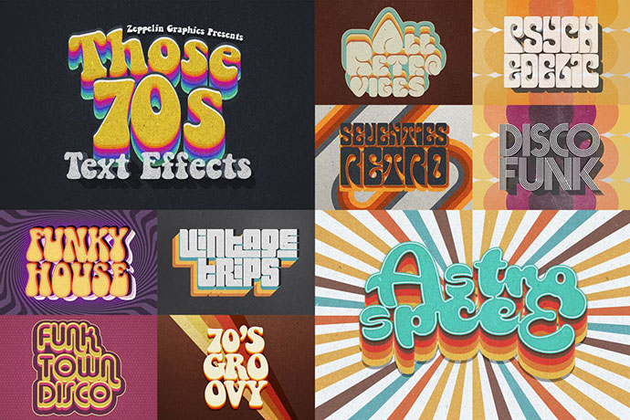 70s Retro Text Effects