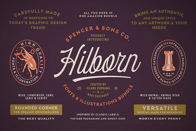 S&S Hilborn Font BundleCertified