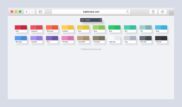 Simple Flat Colour Selector (Clipboard, various formats)