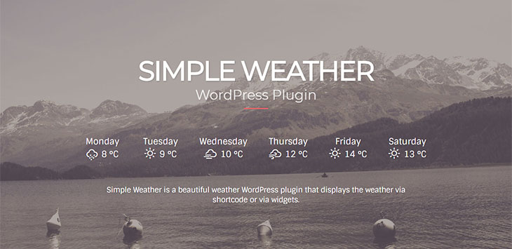 10 Cool WordPress Weather Widgets Plugins