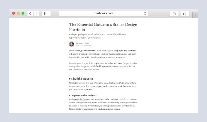 Guide to a Stellar Design Portfolio