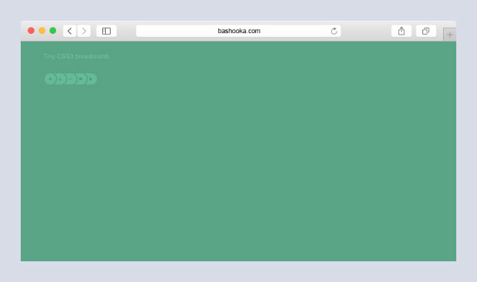 Tiny CSS3 Round Breadcrumb