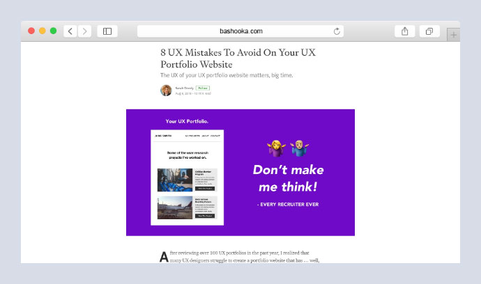 8 UX Mistakes To Avoid On Your UX Portfolio Website
