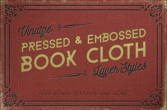 Vintage Pressed Book Styles+ Backgrounds & Borders