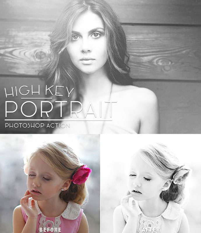 High Key Portrait Photoshop Action