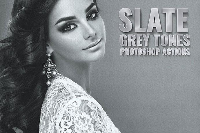 Slate Grey Tones Photoshop Actions