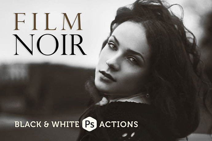 Film Noir B&W Photoshop Actions