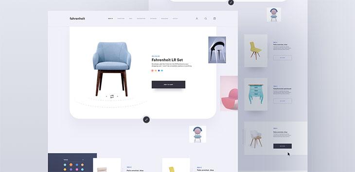 50 Innovative Furniture Web UI Concepts