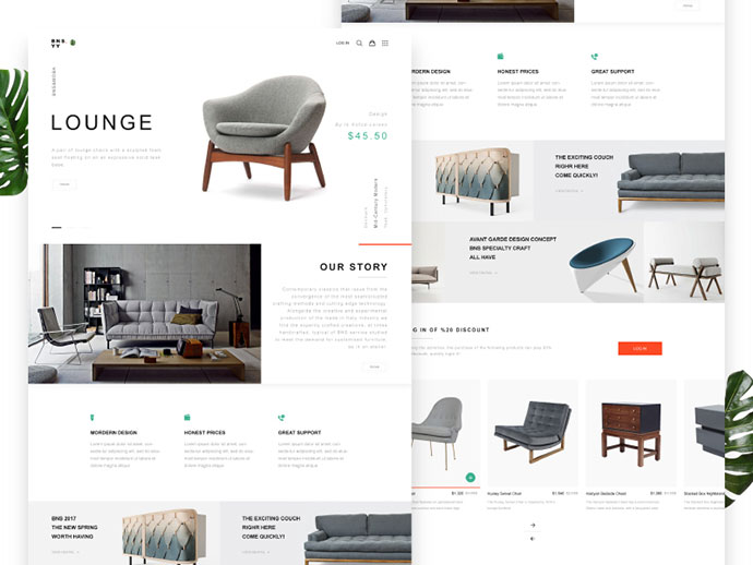 BNS.YY Furniture Web Design