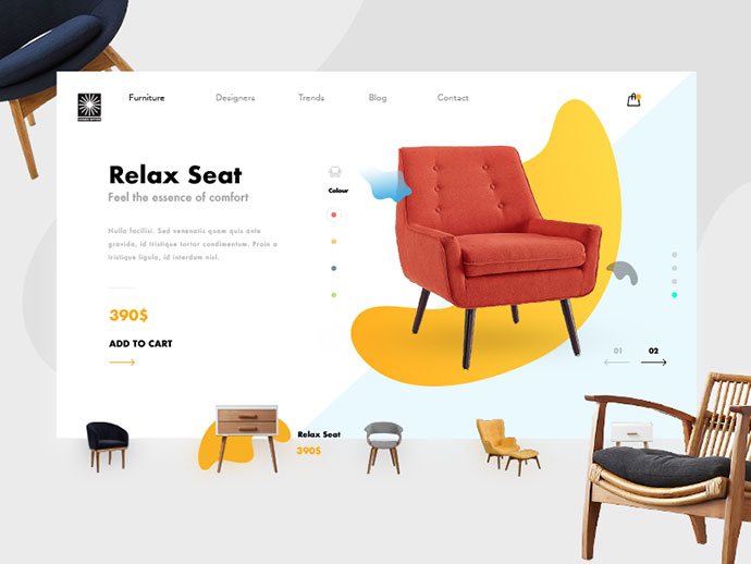 Furniture Ecommerce Shop - Product Card