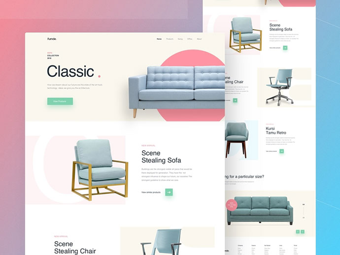 Sofa- Furniture Website Concept