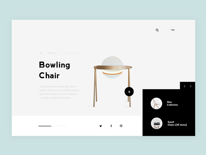 Furniture Online Store UI design