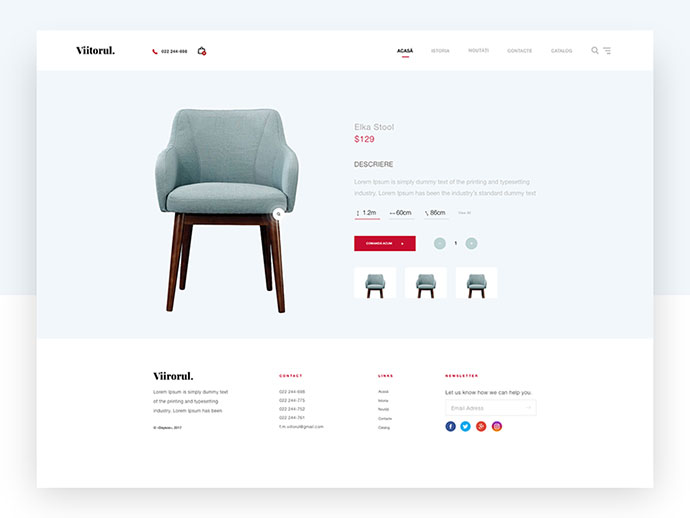 Furniture Site Concept - UI/UX Design