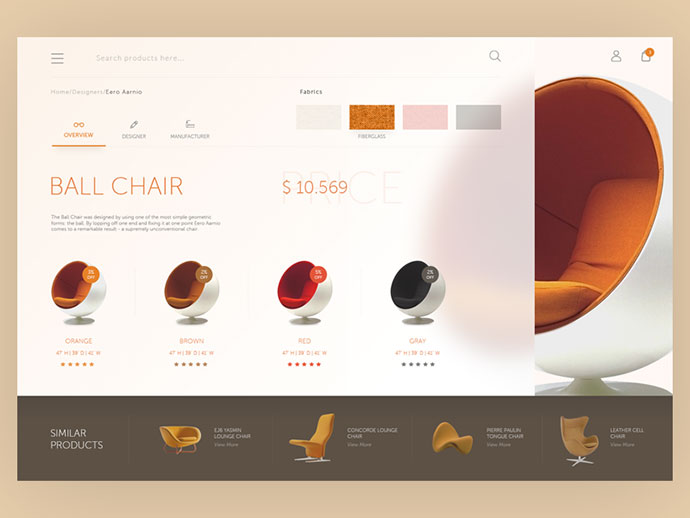 Furniture web interface