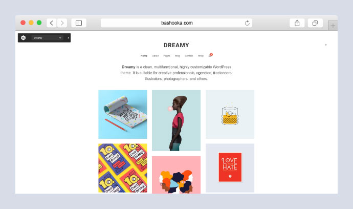 Dreamy Lite Portfolio WordPress Theme