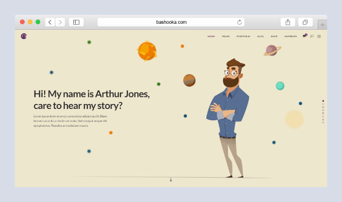 Illustrator WordPress Portfolio Theme