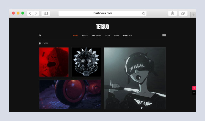 Tetsuo - Portfolio and Creative Industry Theme