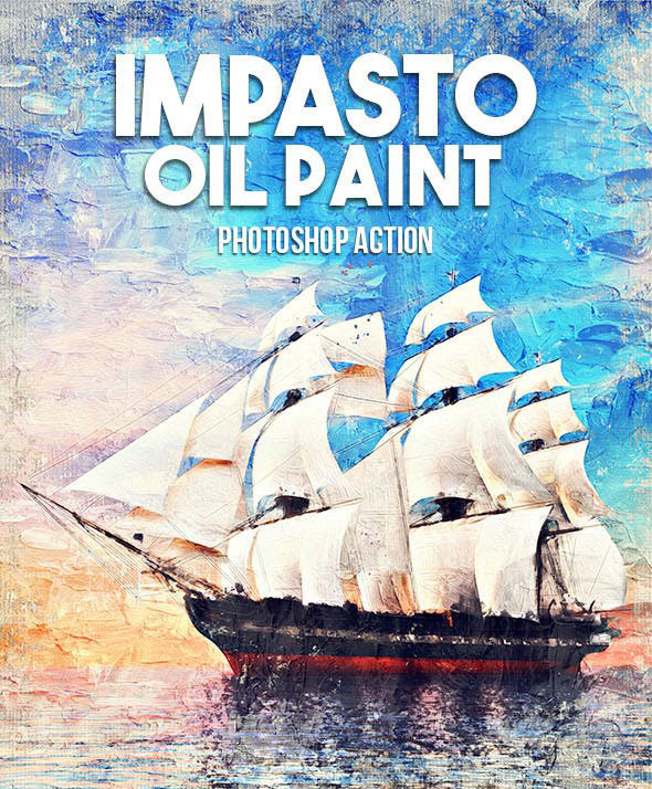 Impasto Oil Paint Photoshop Action