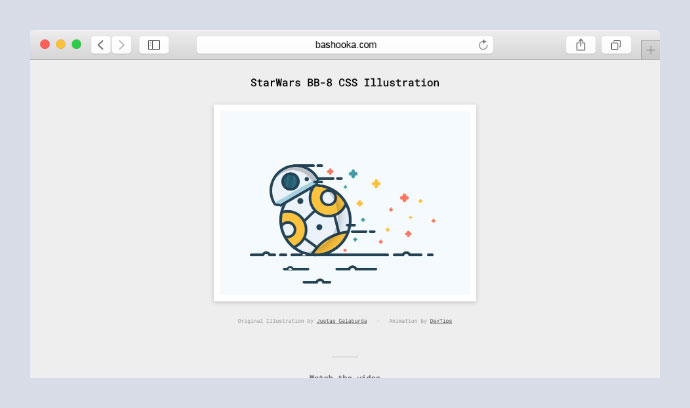 StarWars BB-8 CSS Illustration + Animation