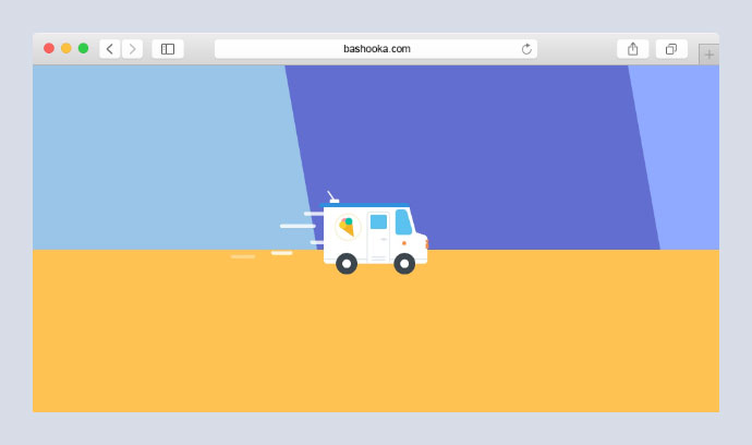Delivery truck animation