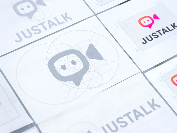 Justalk Logo Grids