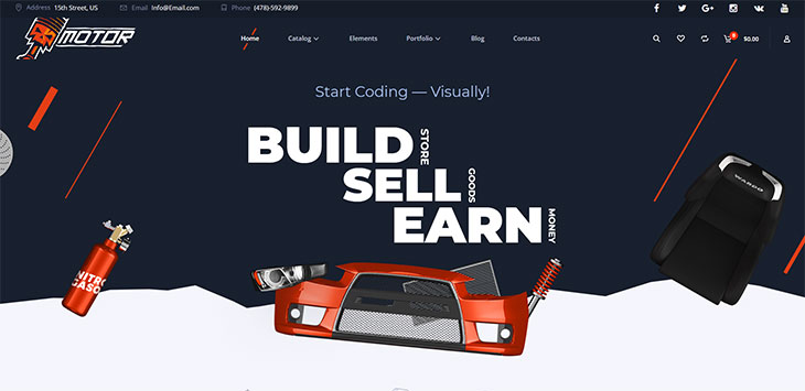 15 WordPress Themes for Selling Automotive Accessories