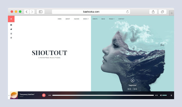 ShoutOut - A Clean WordPress Music Theme
