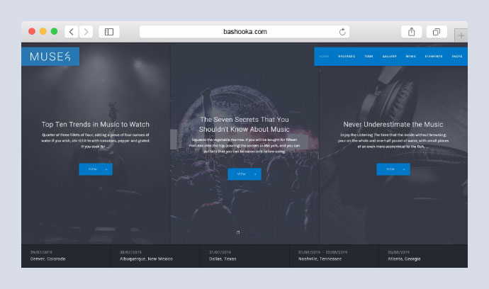Muse — Music WordPress Theme
