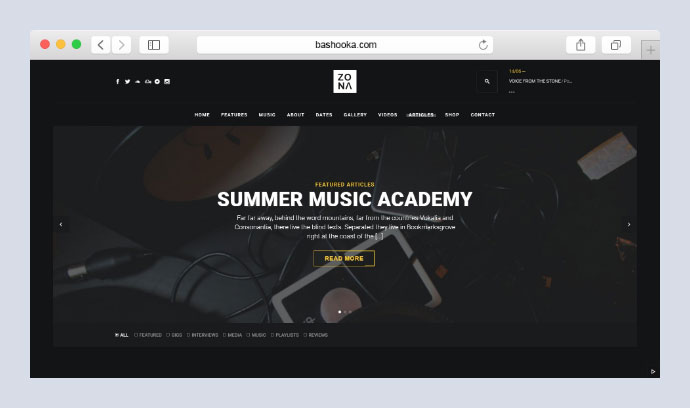 Zona - Multipurpose Music Theme with Continuous Music Playback