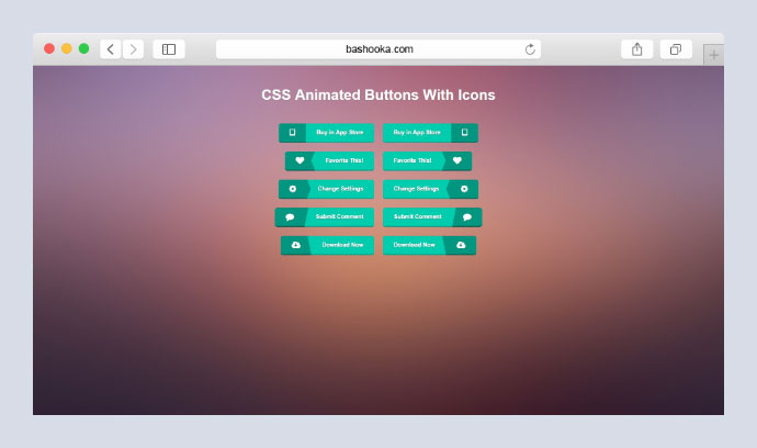 Animated CSS3 buttons