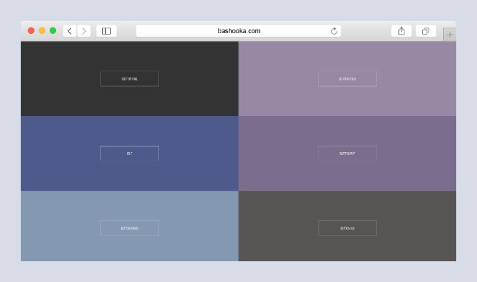 Six Pure CSS Button Hover Animations