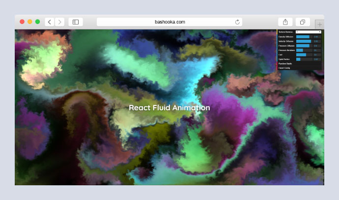 Fluid media animation for React powered by WebGL.
