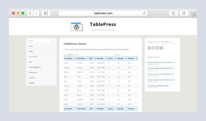 10 Best Wordpress Plugins to Create Responsive Tables – Bashooka
