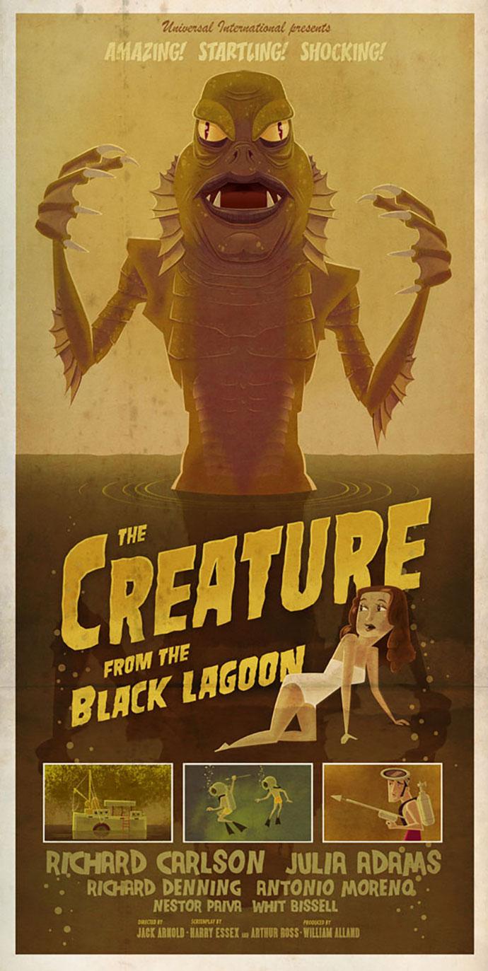B Movie Monsters Poster Series