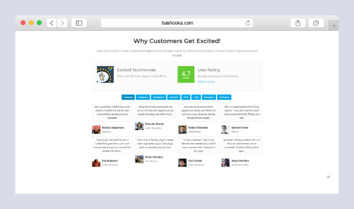 Testimonials Showcase for WordPress — Excited!