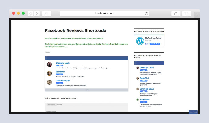 Facebook Reviews Pro WordPress Plugin