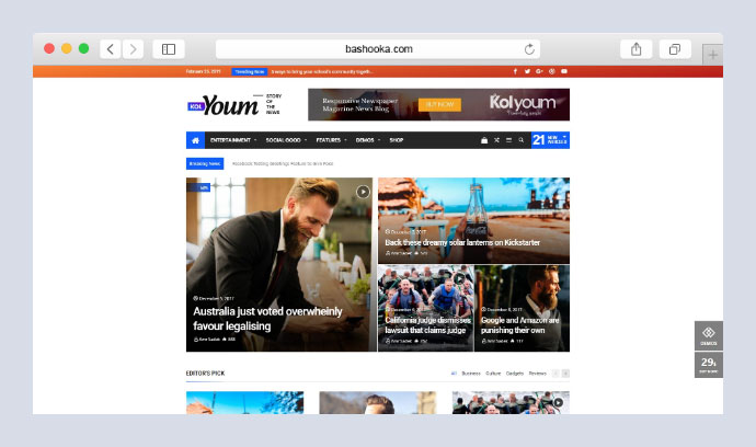 Kolyoum News - Newspaper Magazine News AMP Multipurpose + RTL