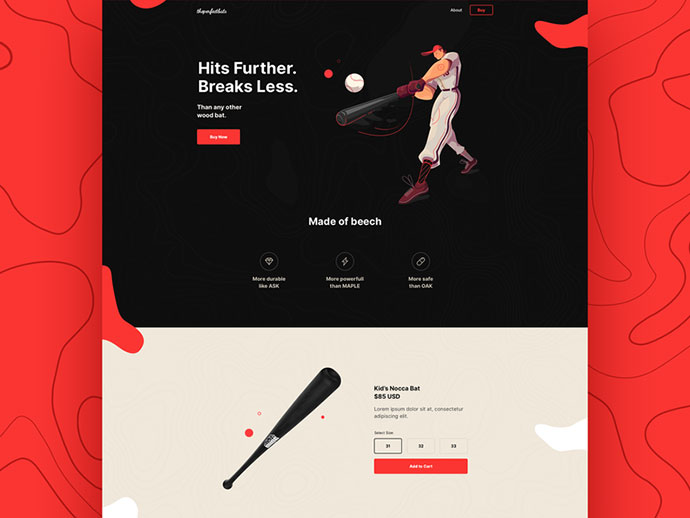 Baseball Bat - Website