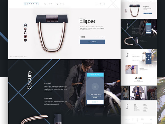 Lattis Product Page