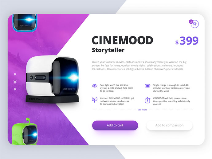 Cinemood Product Card Concept
