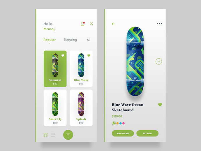 Skateboard App Lighter
