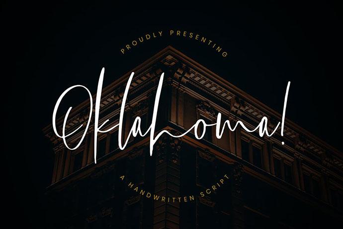 Oklahoma Handwritten Script