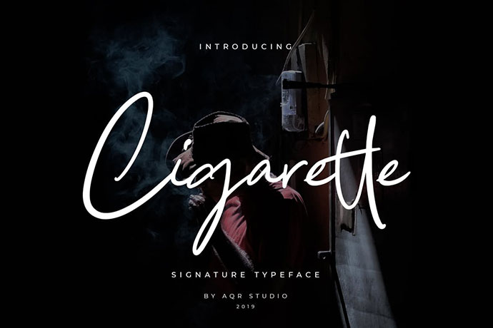 Cigarette Signature Font Pro Version