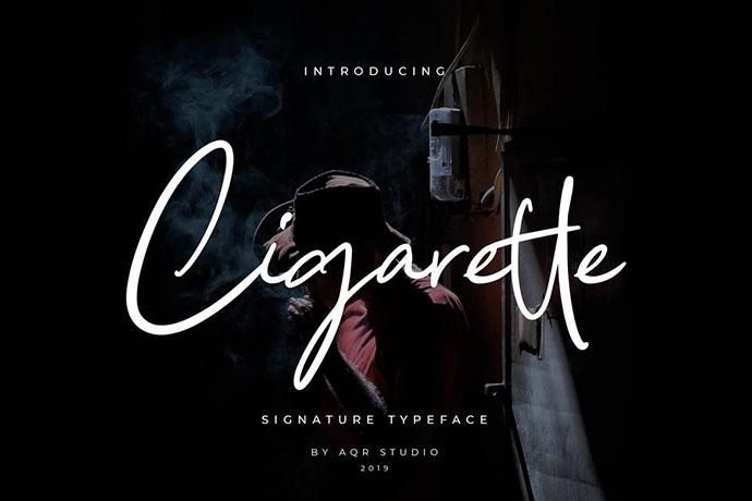 Cigarette Signature Font Pro Version